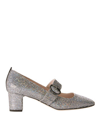Tartt Silver Glitter Pumps, METALLIC, hi-res