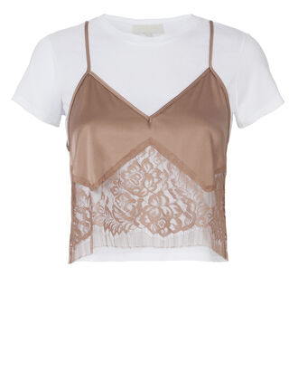 Blush Lace Camisole Layered T-Shirt, BLUSH/NUDE, hi-res