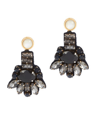 Jet Blossom Earrings, BLACK, hi-res