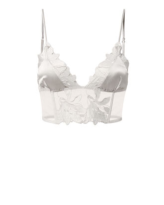 Lily Lace Longline Bra, SILVER, hi-res