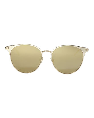 Metal Round Sunglasses, METALLIC, hi-res