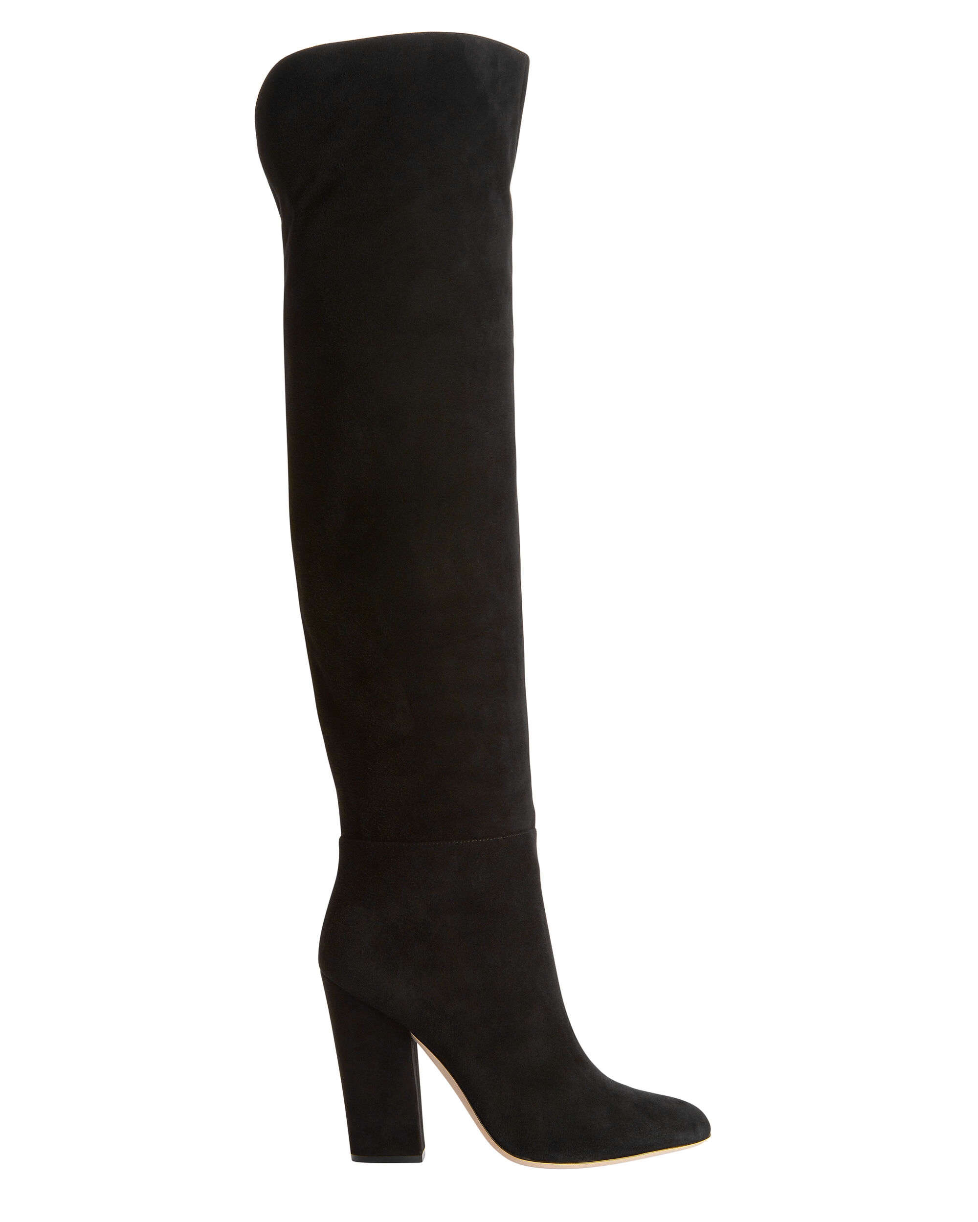 Virginia Suede Over-The-Knee Boots, BLACK, hi-res