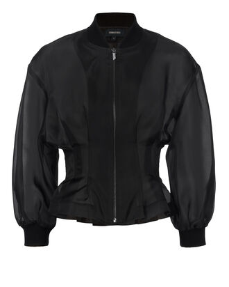 Zamora Sheer Cropped Jacket, BLACK, hi-res