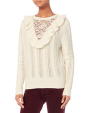 Ruffle Lace Sweater, , hi-res