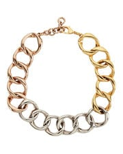 Mini Cosimo Tri-Tone Necklace , MULTI, hi-res