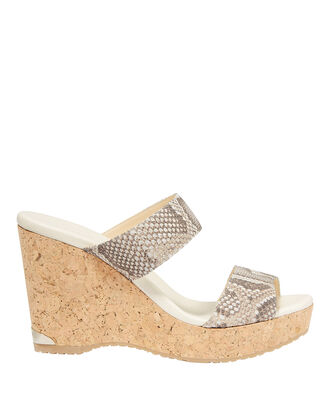 Parker Snake-Embossed Wedges, PRINT, hi-res