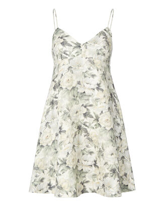Floral Linen Sun Dress, PRINT, hi-res