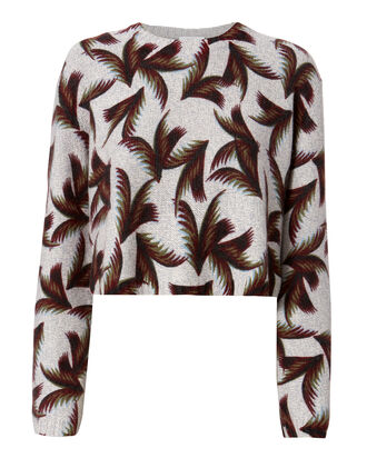 Tami Cropped Sweater, PRINT, hi-res
