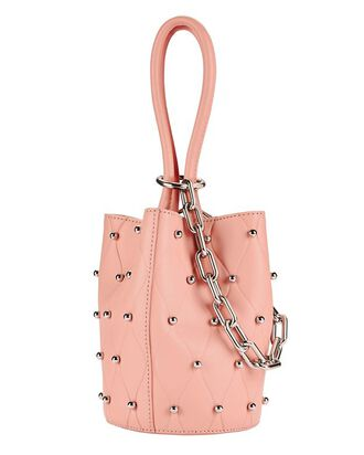 Roxy Blush Stud Mini Bucket Bag, BLUSH/NUDE, hi-res