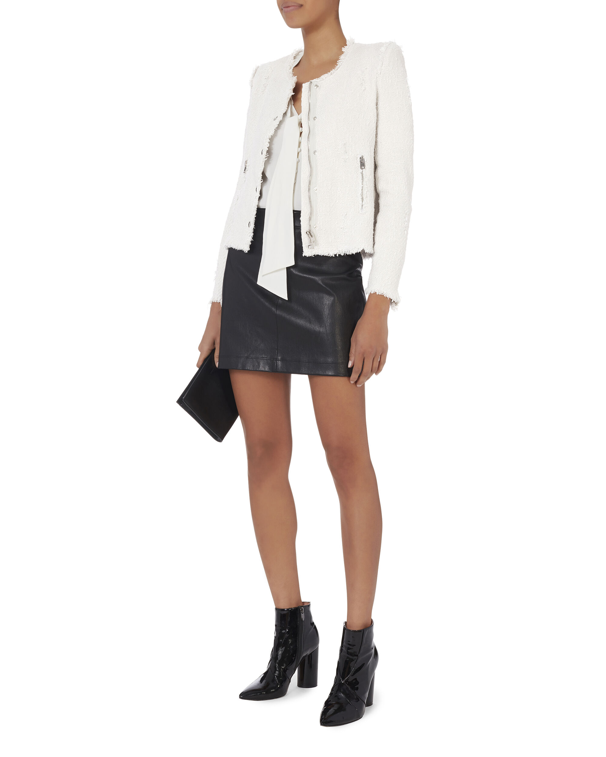 Agnette White Jacket, WHITE, hi-res