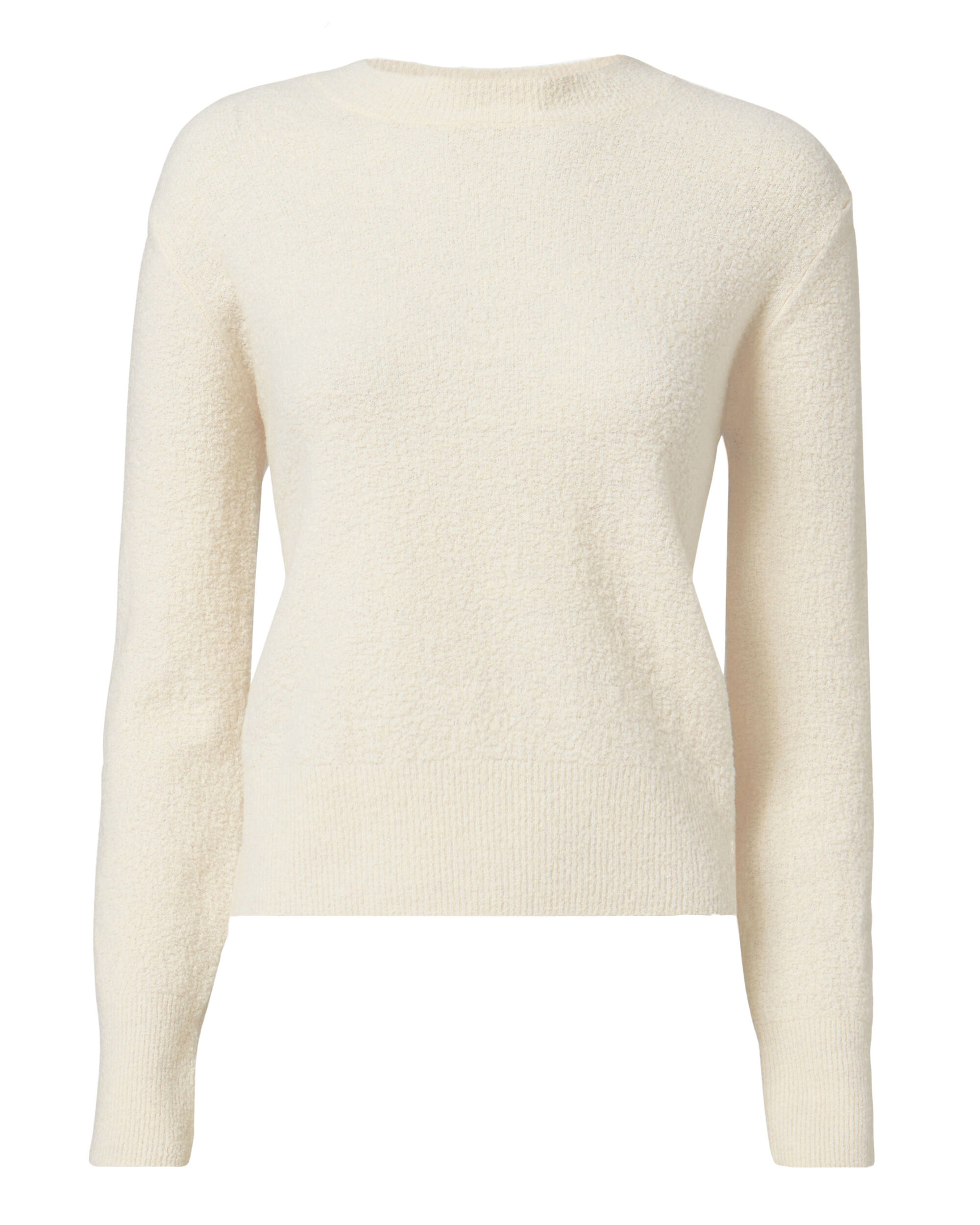 Bouclé Wool Pullover, WHITE, hi-res