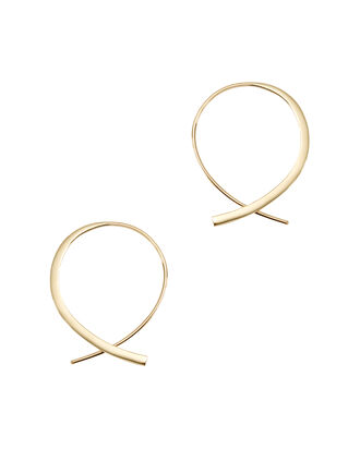 Forward Upside Down Hoops, METALLIC, hi-res