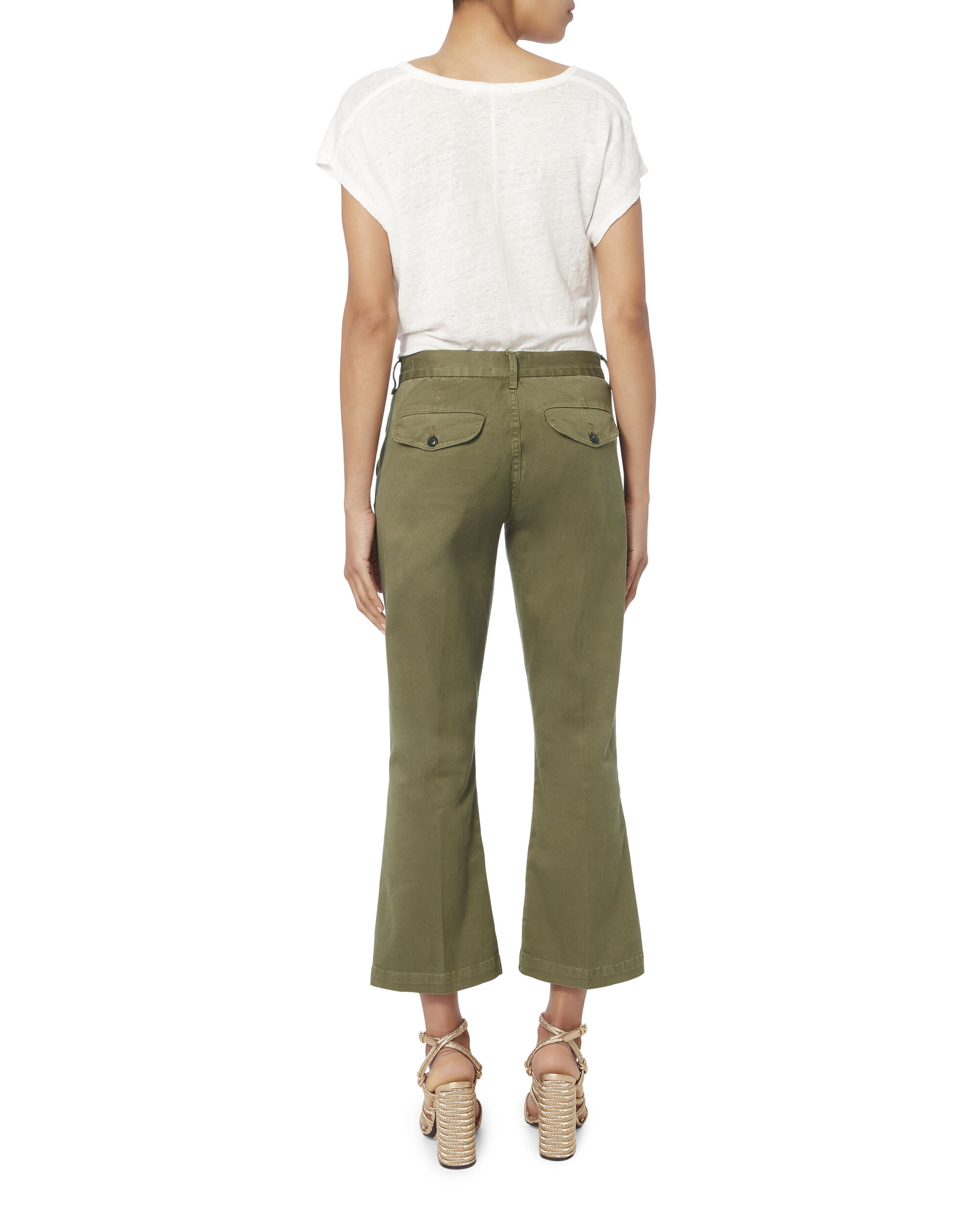 Le Crop Mini Boot Chino Pants, OLIVE/ARMY, hi-res