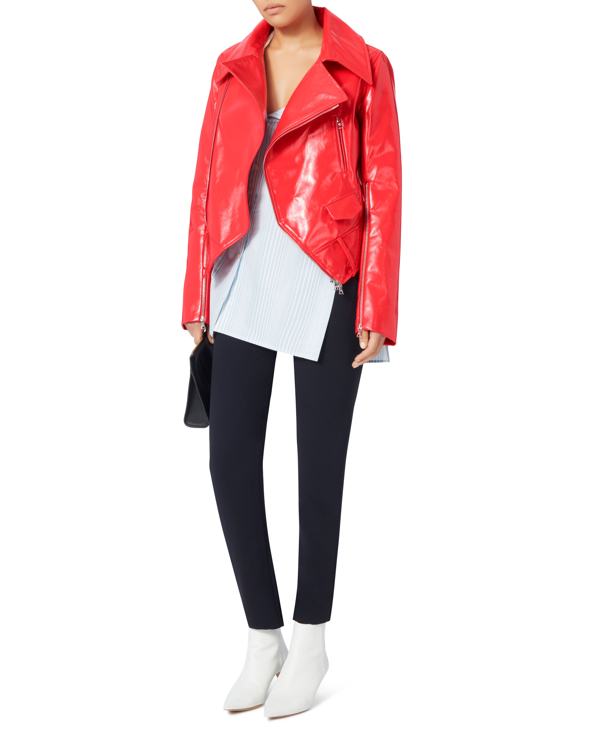 Rider Red Patent Jacket, RED, hi-res