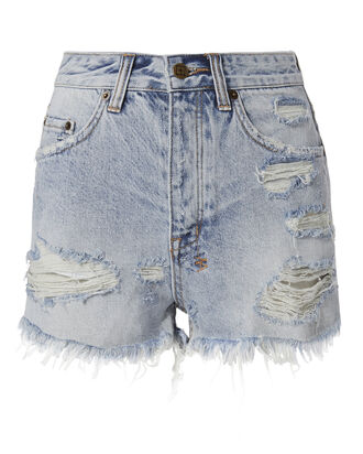 Tongue And Cheek Cut Off Shorts, DENIM, hi-res