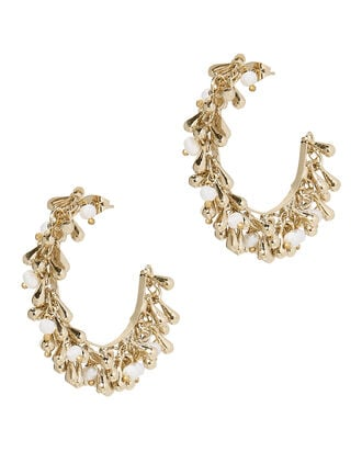 Flapper Hoop Earrings, GOLD, hi-res