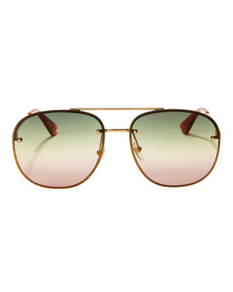 Glitter Aviator Sunglasses, METALLIC, hi-res