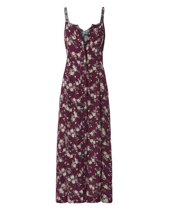 Nathalie Double Layer Silk Dress, PRINT, hi-res