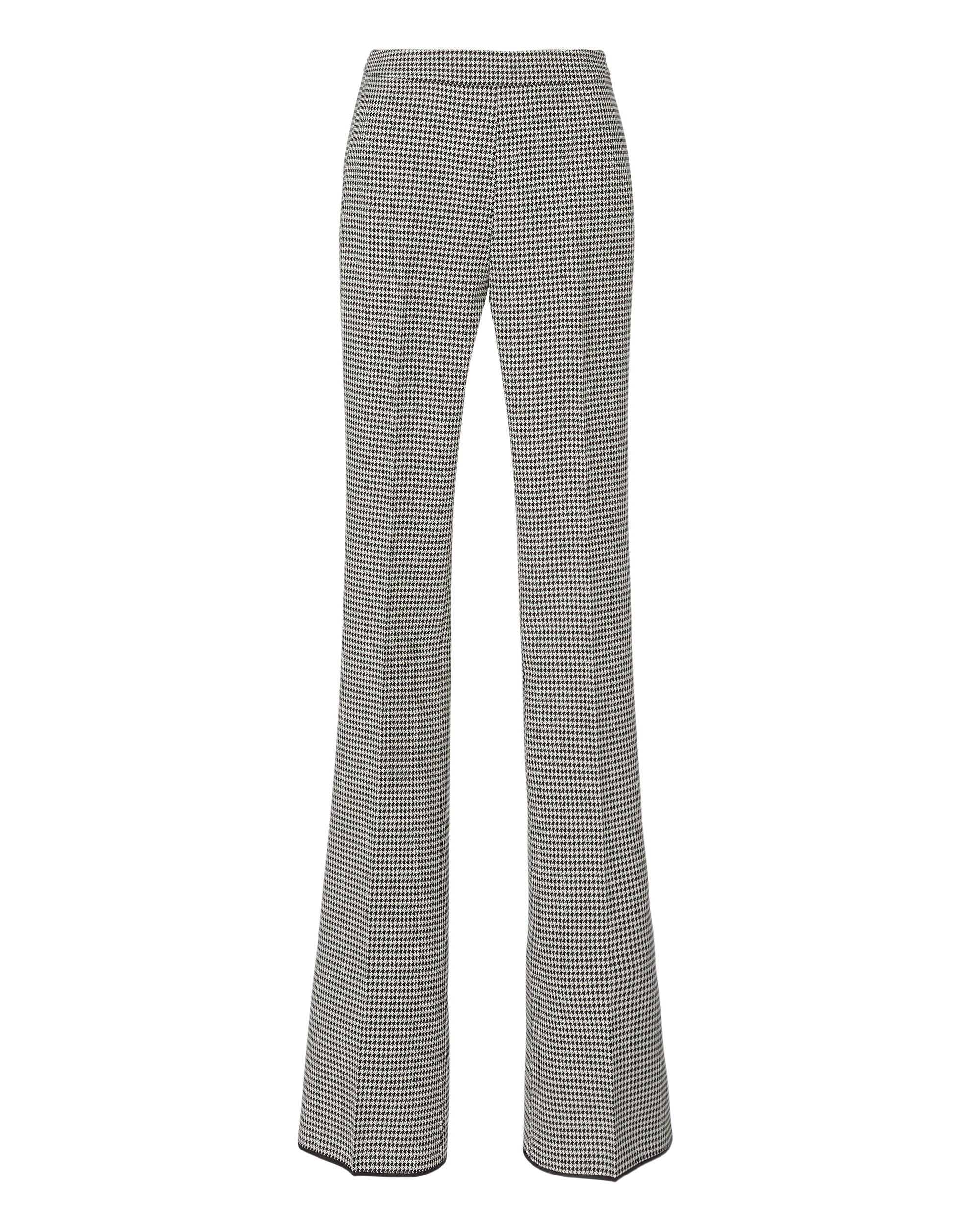 Houndstooth Flare Trousers, PATTERN, hi-res