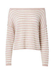 Gabi Striped Off Shoulder Top, STRIPE, hi-res