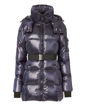Soho Belted Puffer Jacket, NAVY, hi-res