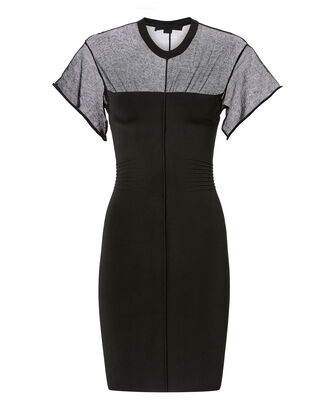 Shadow Panel Bodycon Dress, BLACK, hi-res