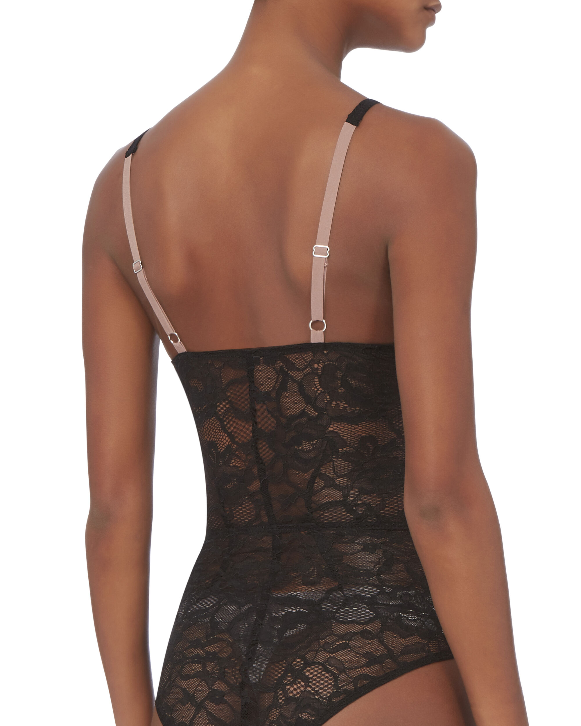 Chat Black Lace Plunge Bodysuit, BLACK, hi-res