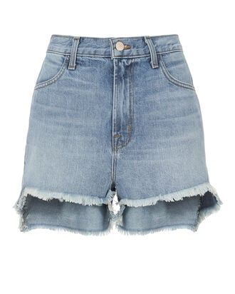 Joan Cut Off Shorts, DENIM-LT, hi-res
