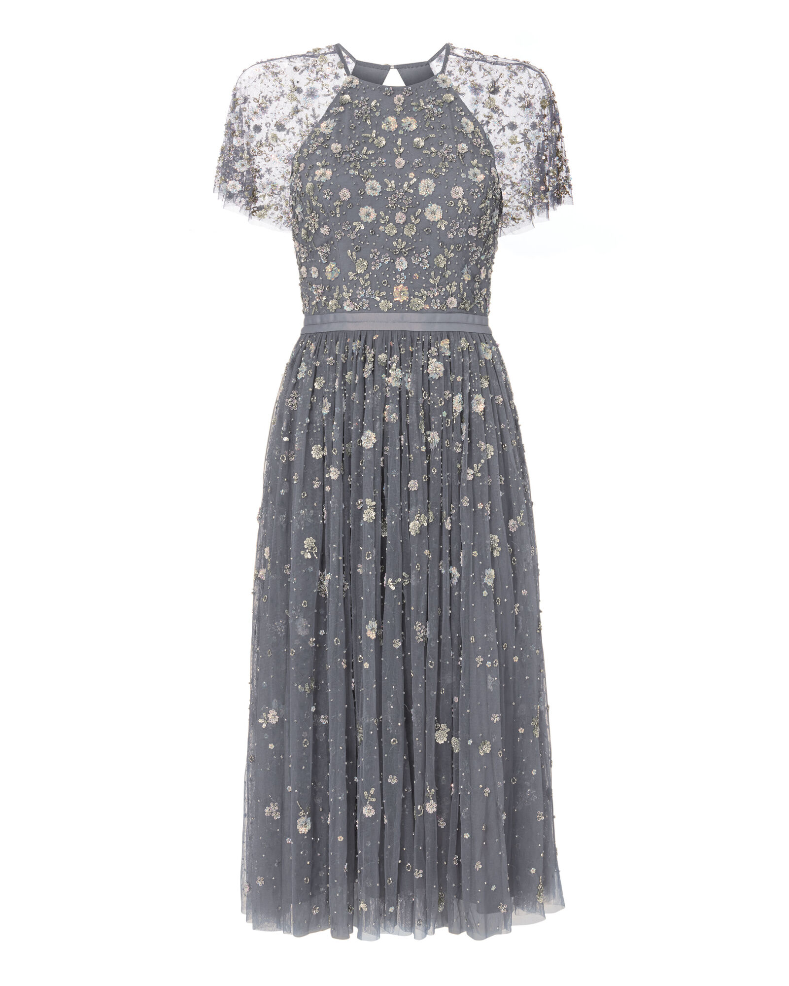 NEEDLE & THREAD Comet Victorian Floral Lace Midi Cocktail Dress ...