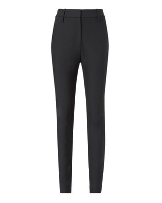 High-Waisted Skinny Pants, BLACK, hi-res