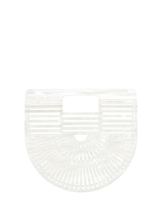 Ark Mother Of Pearl Mini Clutch, WHITE, hi-res
