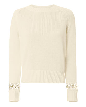 Dree Ring Detail Sweater, BEIGE, hi-res