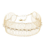 Big Bang Pearl Caged Choker, GOLD/PEARL, hi-res
