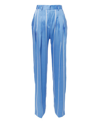 Striped Front Pleat Suiting Pants, BLUE-MED, hi-res