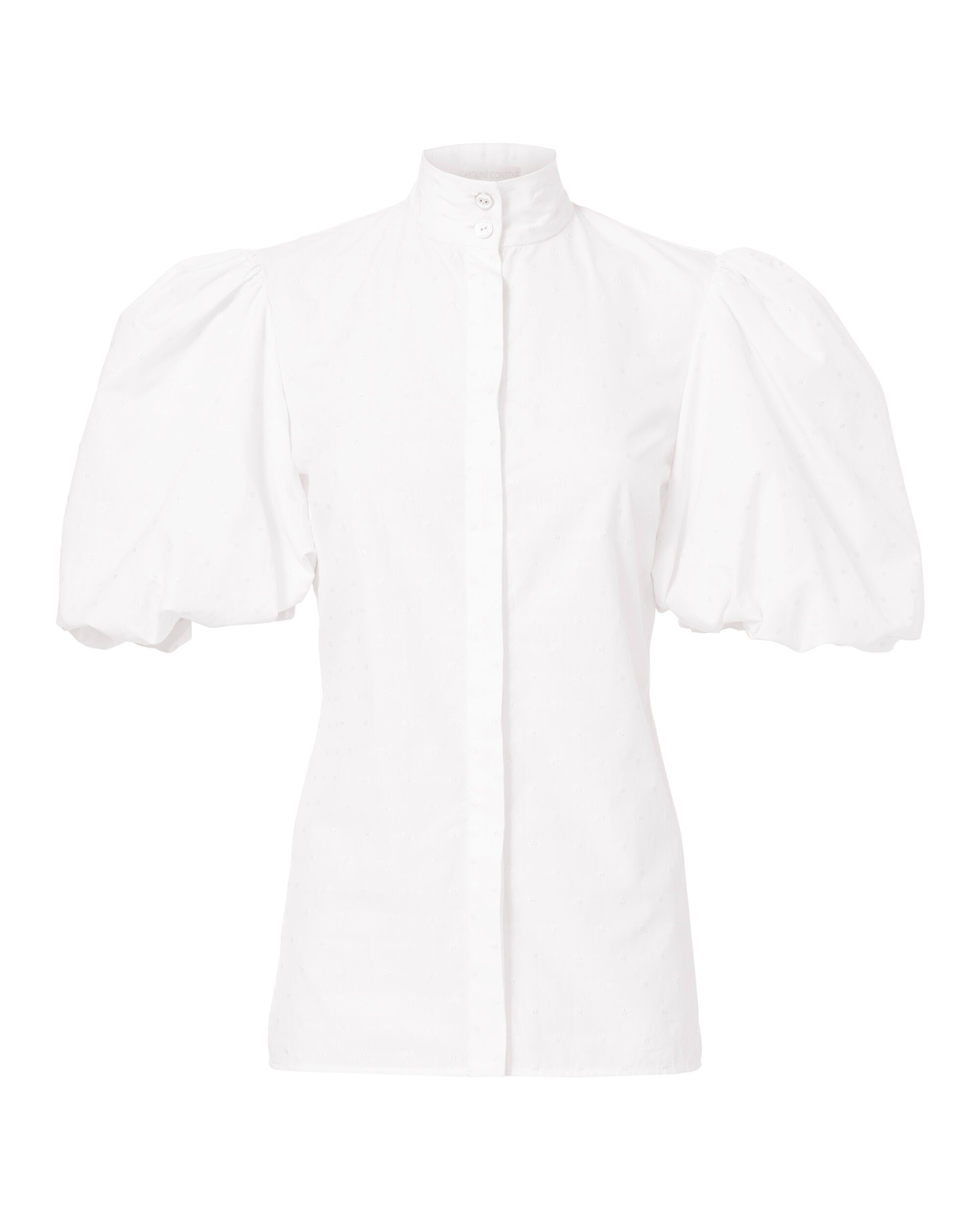 Daisy Puff Sleeve Top, WHITE, hi-res