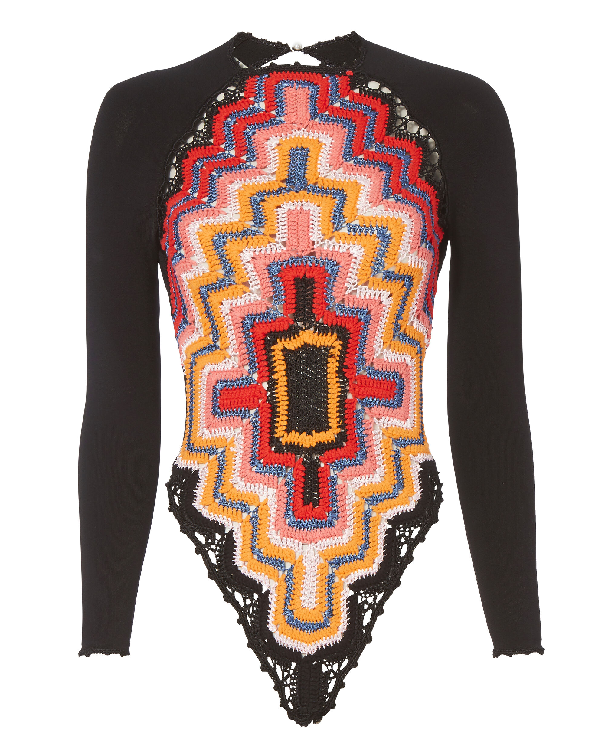 Long Sleeve Crochet Bodysuit, PRI-ABSTRACT, hi-res