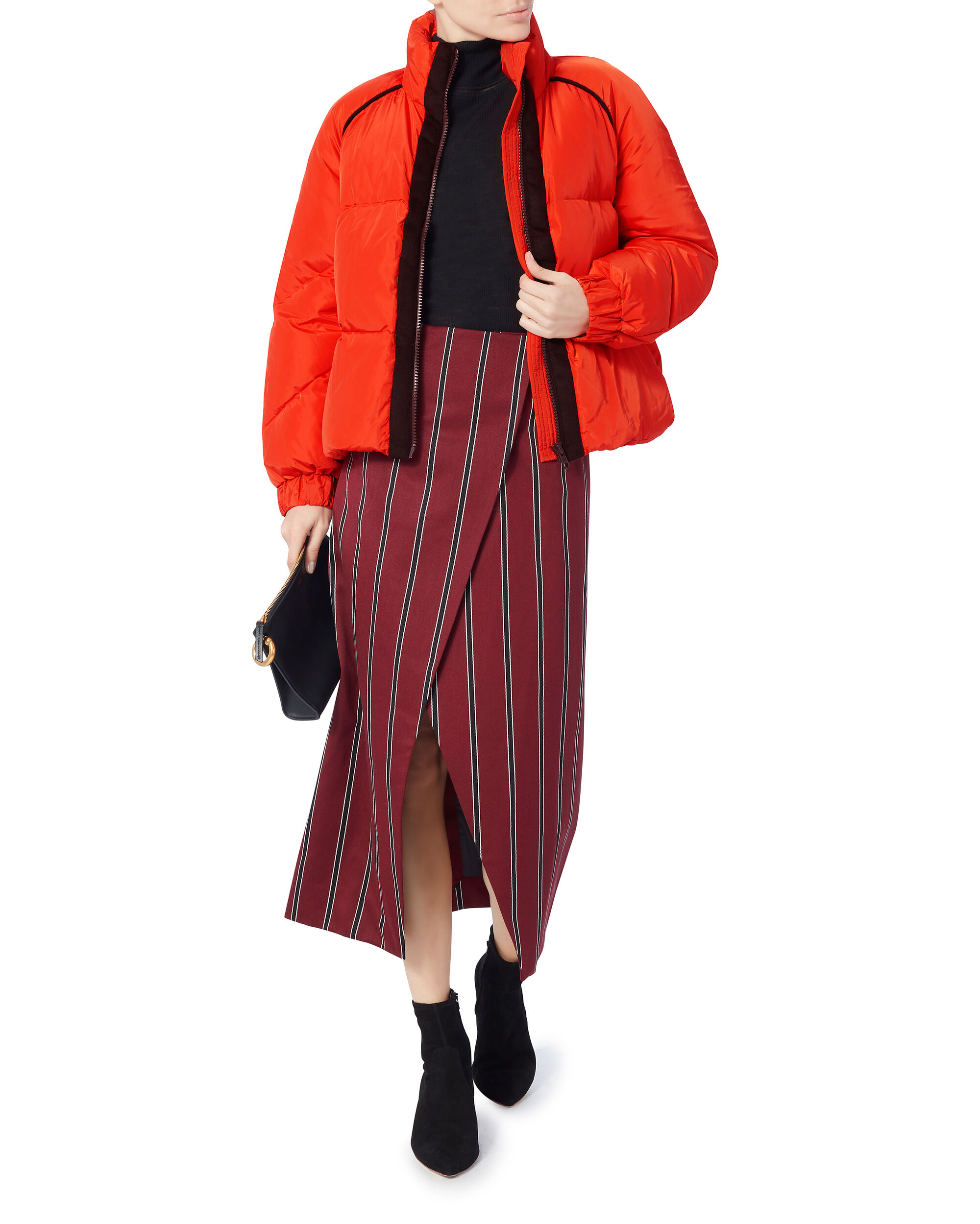 Fountain Puffer Jacket, RED, hi-res