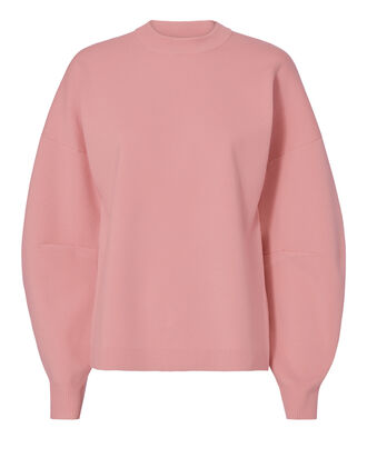 Zip Back Detail Sweater, PINK, hi-res