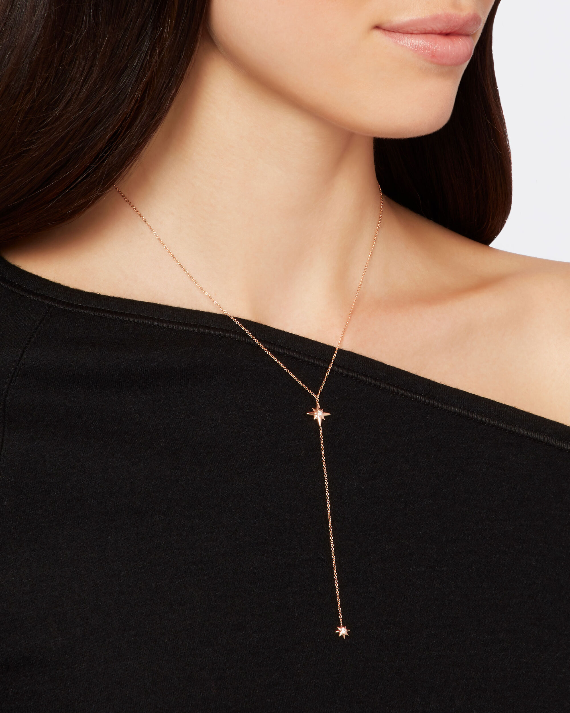 North Star Rose Gold Necklace, METALLIC, hi-res