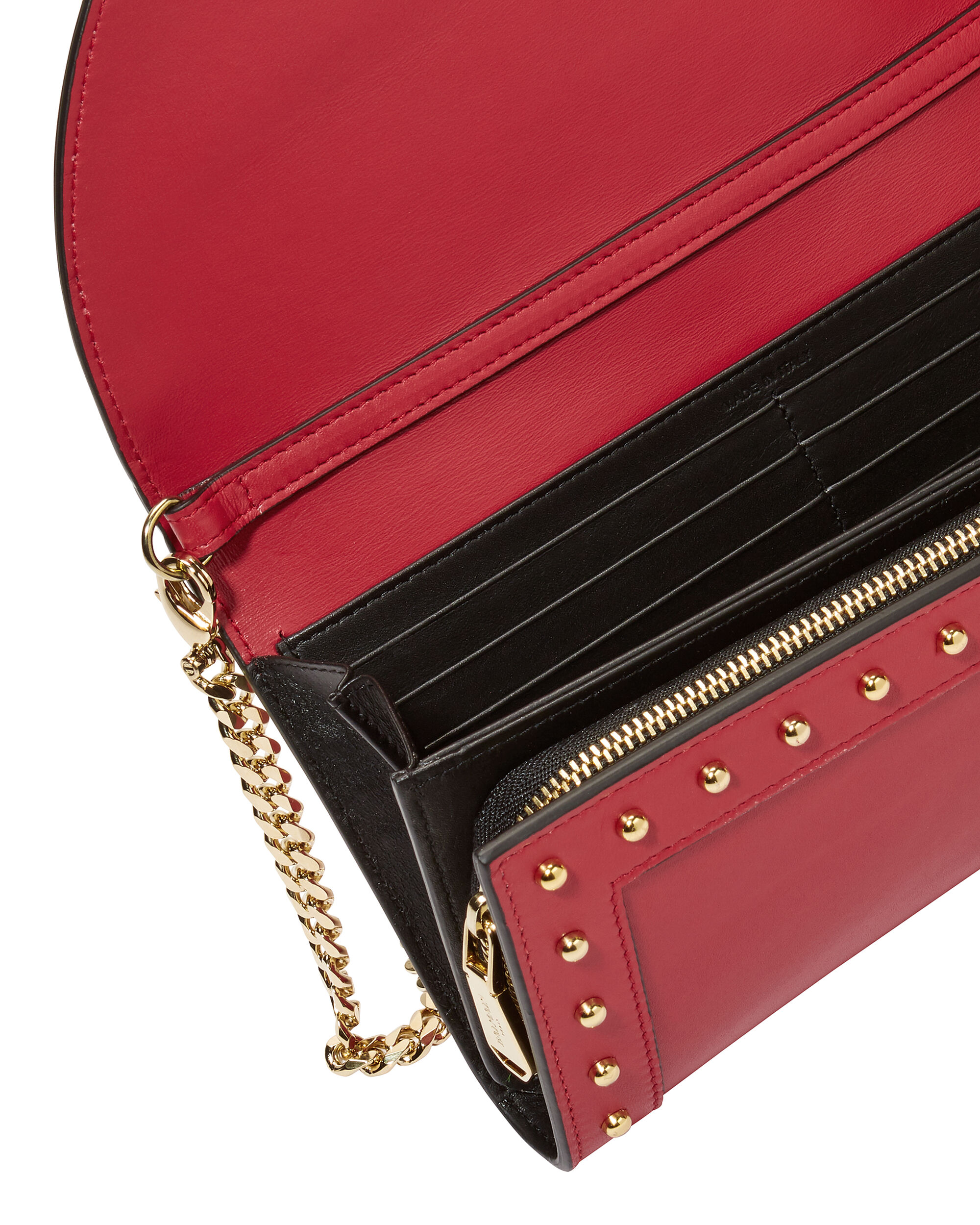 Red Clutch Chain Bag, RED, hi-res