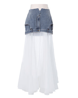 Humanise Denim Skirt, DENIM, hi-res