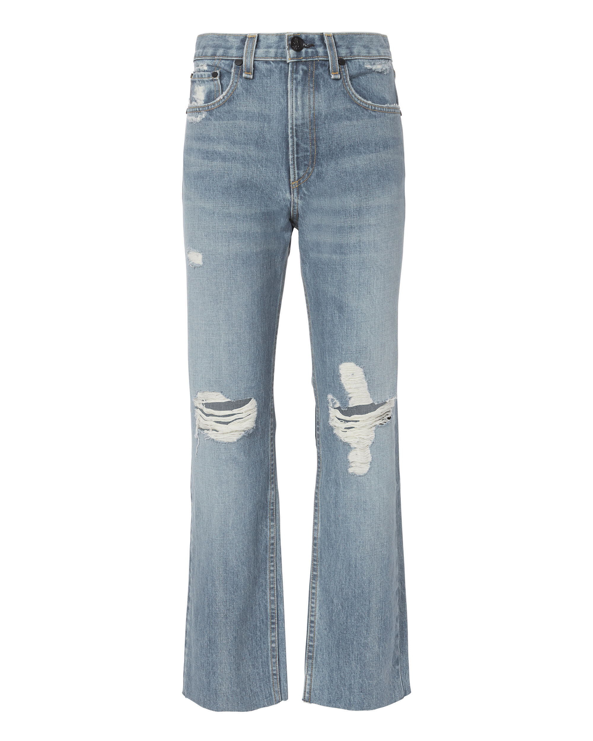 Shaker High-Rise Cropped Straight Jeans, DENIM, hi-res