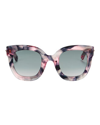 Oversized Marble Acetate Sunglasses, PURPLE, hi-res