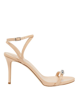 Alien Embellished Patent Leather Sandals, BEIGE, hi-res