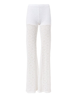 Diamond Lace Bell Pants, WHITE, hi-res