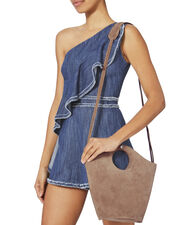 Market Small Suede Shopper Tote, BLUSH/NUDE, hi-res