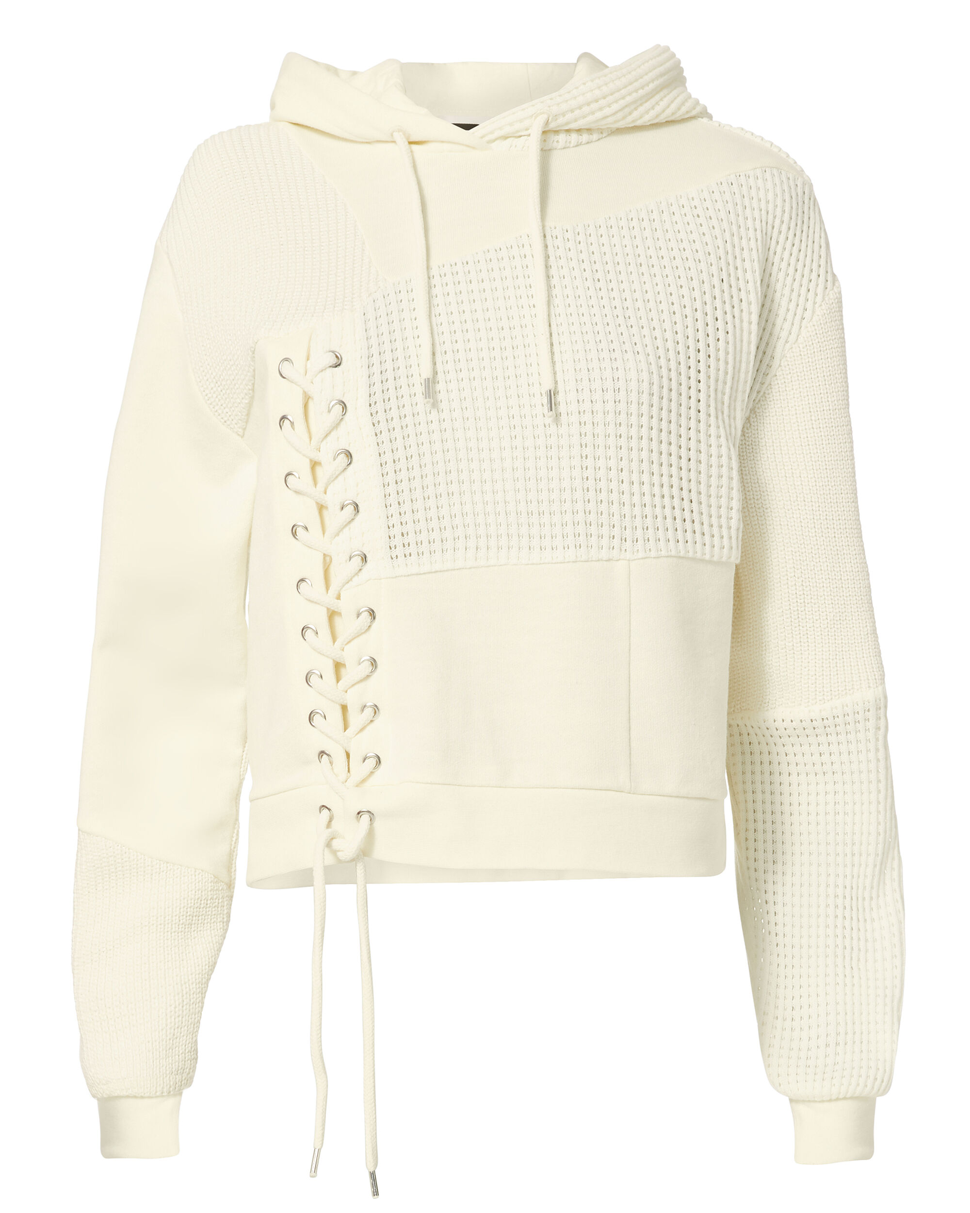 Lace Patch Hoodie, IVORY, hi-res