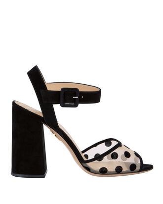 Emma Polka Dot Sandals, PRINT, hi-res