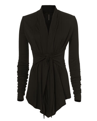 Tie Waist Jacket, BLACK, hi-res