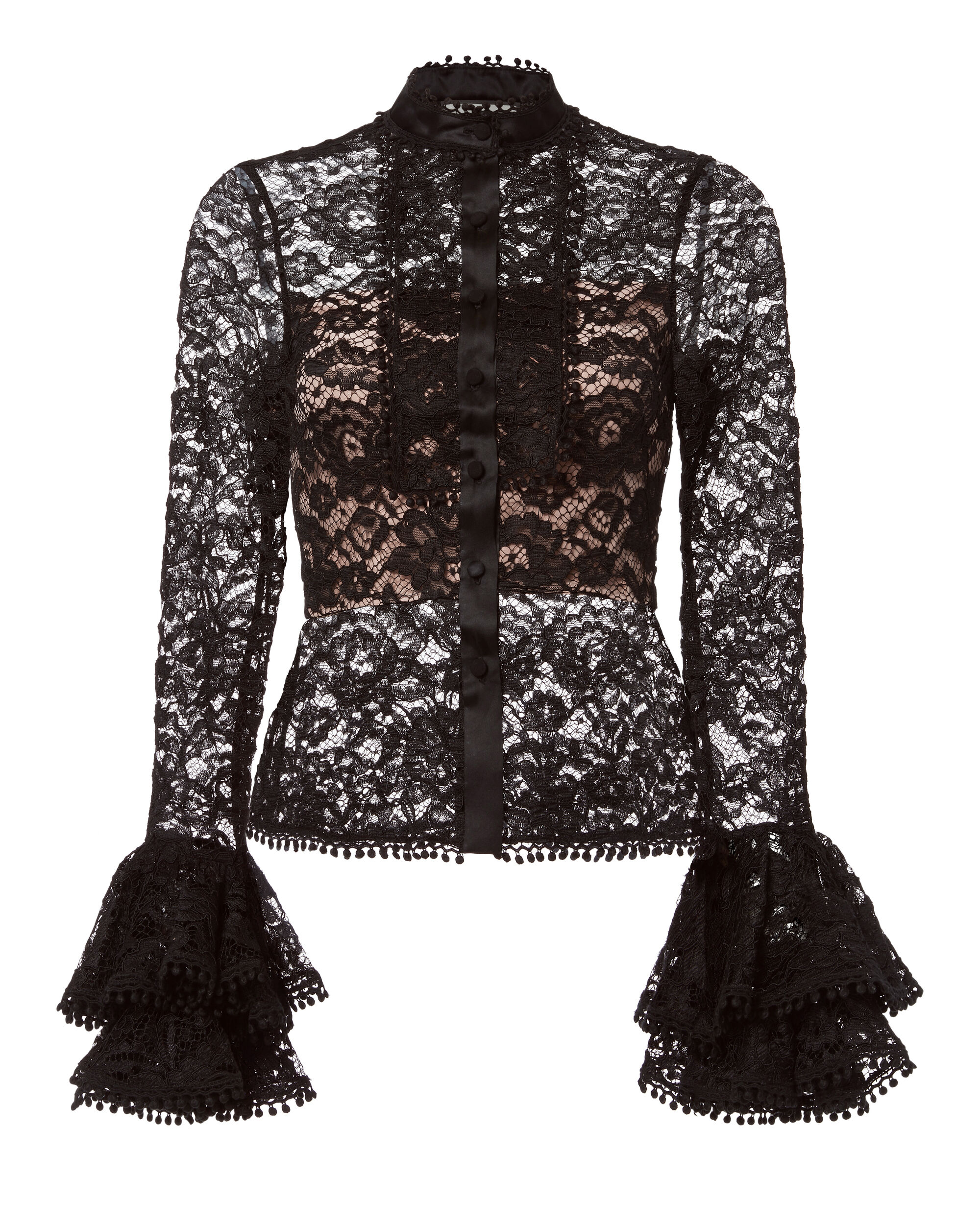 Inna Lace Top, BLACK, hi-res